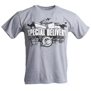 S—Special Delivery Youth T-Shirt—Gray