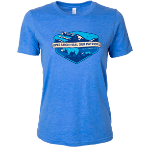 Small YOUTH ALASKA T-SHIRT—BLUE