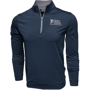 Small NAVY ZIP PULLOVER—MEN'S