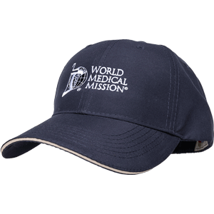 NAVY CAP—WORLD MEDICAL MISSION (with logo)